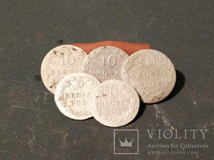 Монети Польщі 1819-20-40 по., фото №2