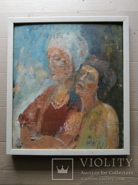 """""""Изгнание.."""" к.м. 44х38 см.,1982г.,Лариса Жданова, фото №2"""