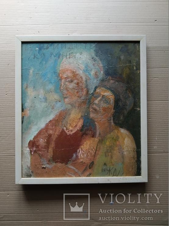 """""""Изгнание.."""" к.м. 44х38 см.,1982г.,Лариса Жданова, фото №9"""