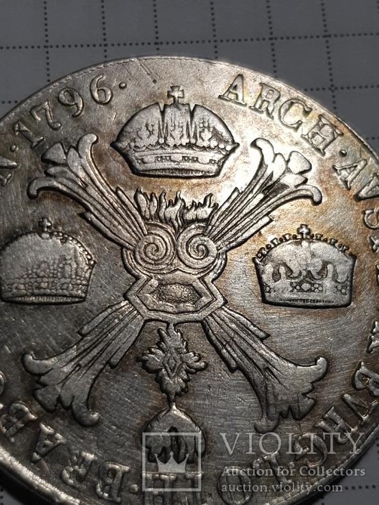 Талер 1796 М, Австрия, Франциск II, Серебро, фото №7