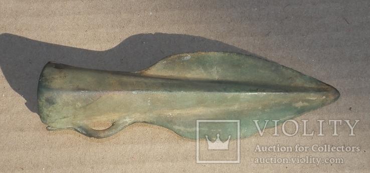 Бронзовый наконечник копья - дротика., фото №3