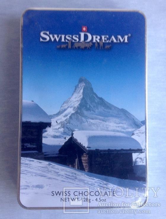 Коробка от шоколада. Швейцария. Металл, жесть., фото №2