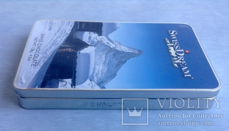 Коробка от шоколада. Швейцария. Металл, жесть., фото №6