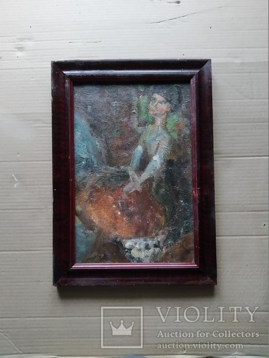 """Балерина"" к.м.34х23 см. Лариса Жданова(1937-2017), фото №2"