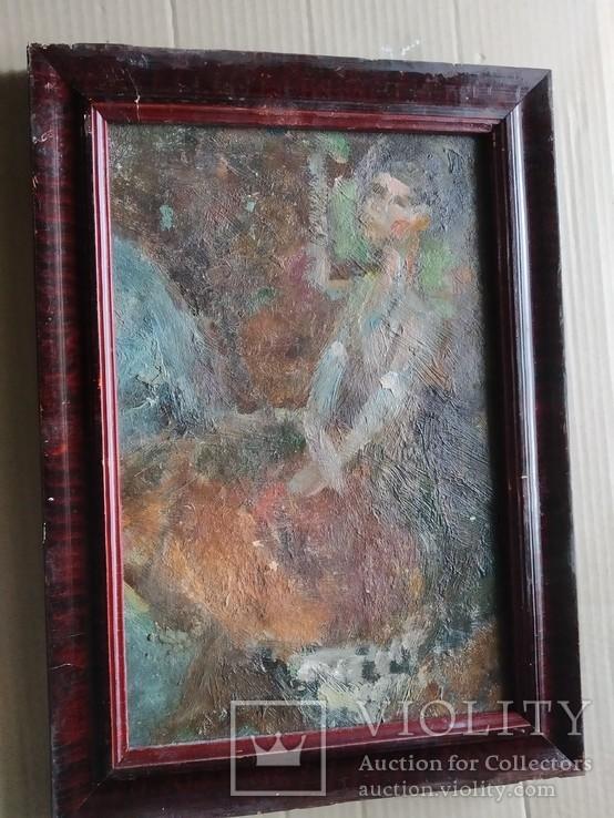 """Балерина"" к.м.34х23 см. Лариса Жданова(1937-2017), фото №8"