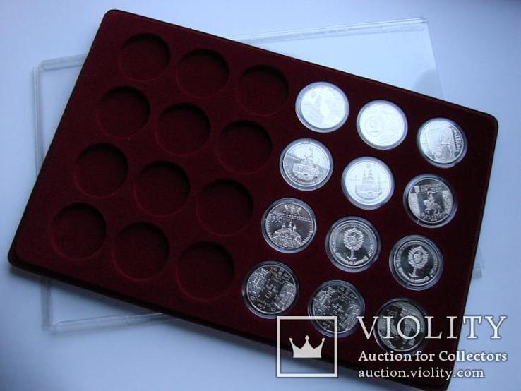 Планшет на 24 монеты в капсуле 35,2mm на 5 грн НБУ + прозрачный футляр MM-Schulz Польша