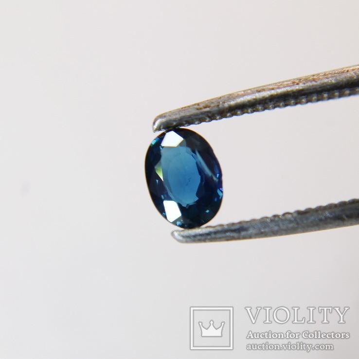 Австралийский сапфир 0.295ст 4х3х1.2мм хороший цвет, фото №4