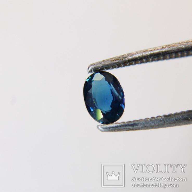 Австралийский сапфир 0.295ст 4х3х1.2мм хороший цвет, фото №5