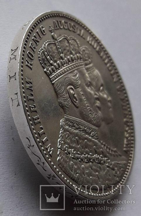 1 талер, 1861 Коронация Вильгельма I и Августы, фото №4