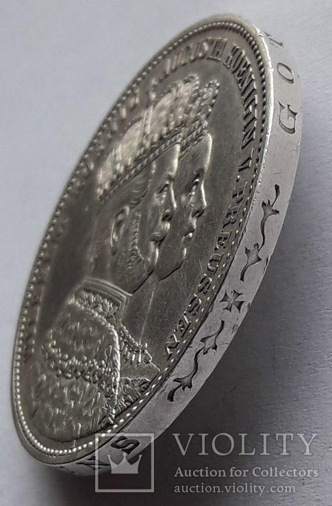 1 талер, 1861 Коронация Вильгельма I и Августы, фото №5