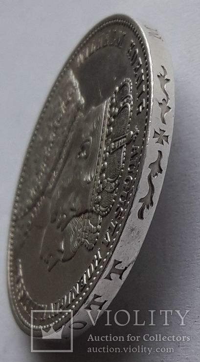 1 талер, 1861 Коронация Вильгельма I и Августы, фото №7
