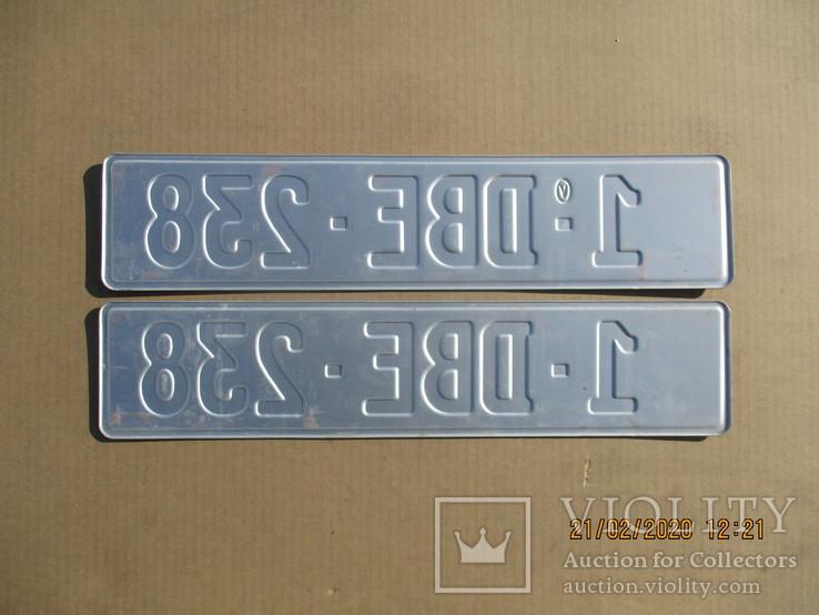 Номера на авто пара алюминий (350гр.), фото №3