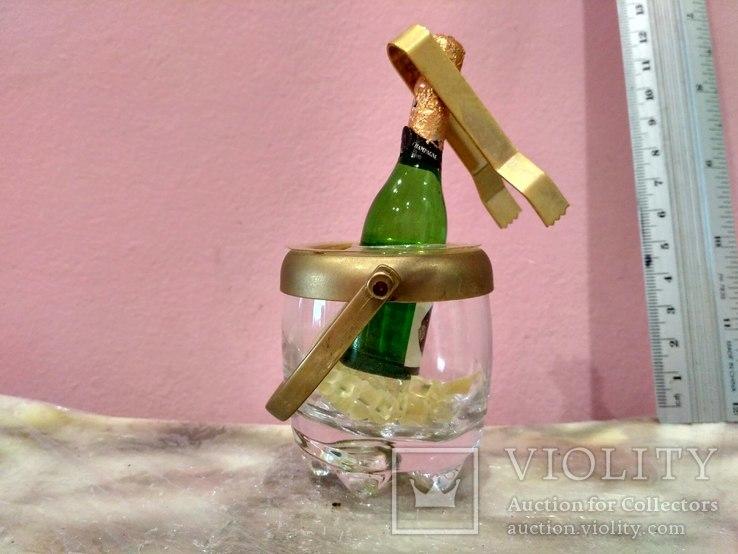 Мини (микро) бутылочка шампанское в ведерке 60-80 годы, фото №3