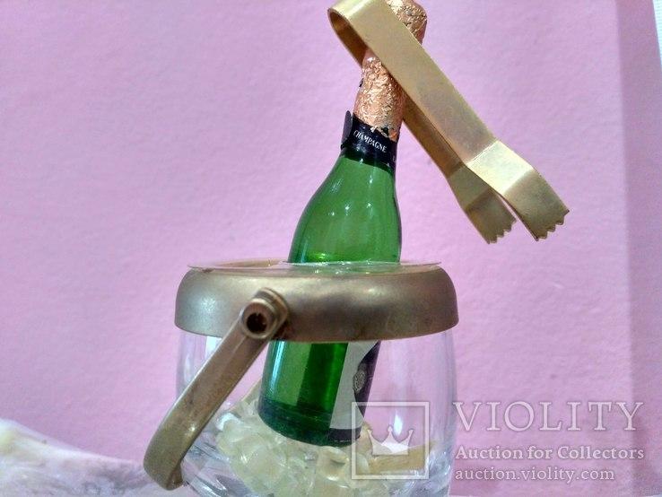 Мини (микро) бутылочка шампанское в ведерке 60-80 годы, фото №2