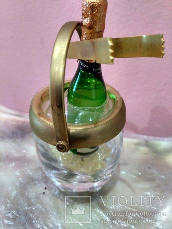 Мини (микро) бутылочка шампанское в ведерке 60-80 годы, фото №8