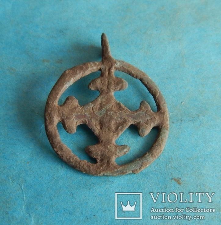 Подвеска крестовключенная КР 12-13 век., фото №2