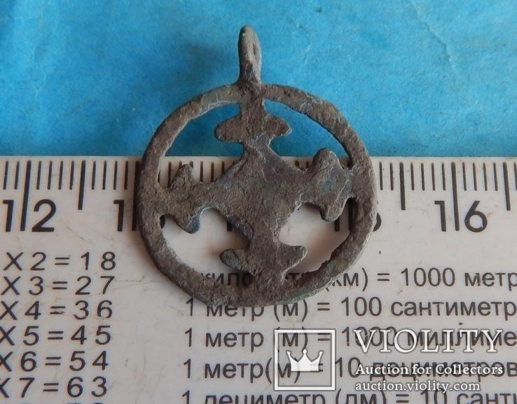 Подвеска крестовключенная КР 12-13 век., фото №4
