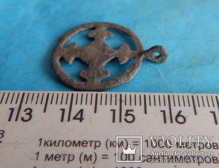 Подвеска крестовключенная КР 12-13 век., фото №5