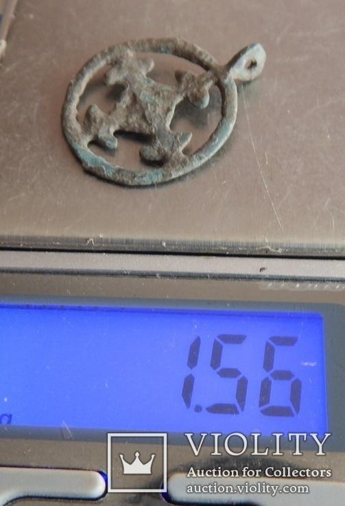 Подвеска крестовключенная КР 12-13 век., фото №6