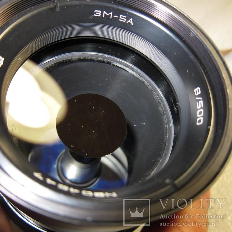 Объектив 3М-5А, 8-500,в родном кожаном футляре., фото №12