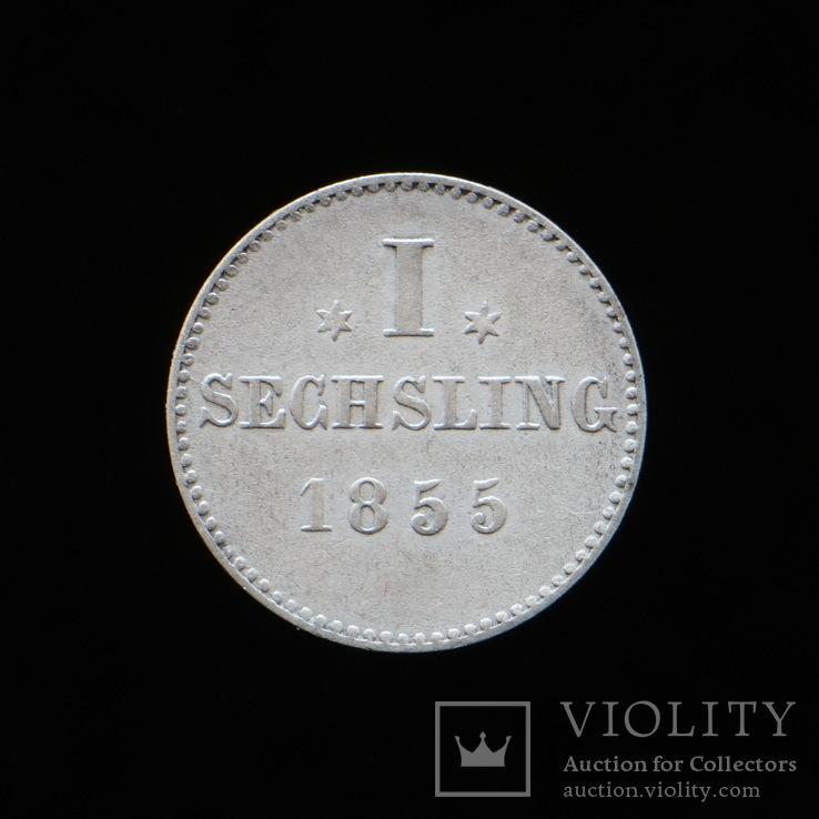 1 Зехслинг 1855, Вольный Город Гамбург, фото №3