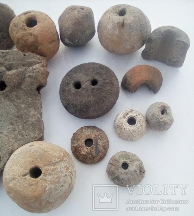 Скифские прясла, грузила, часть горшка, фото №5