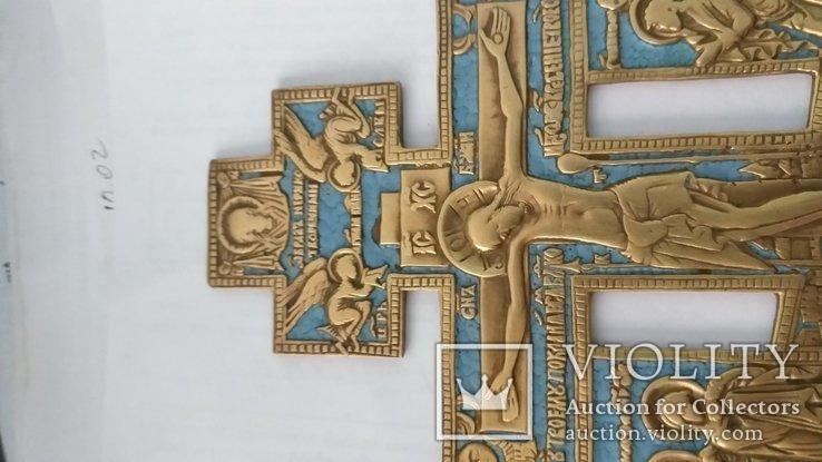 Киотный крест в эмалях, фото №4