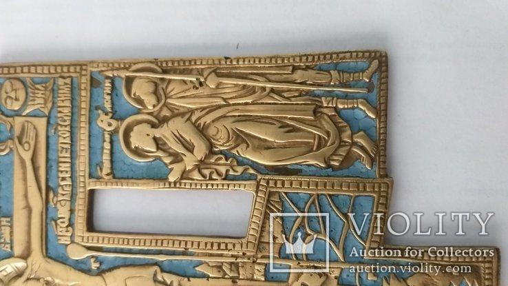 Киотный крест в эмалях, фото №5