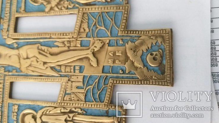 Киотный крест в эмалях, фото №6