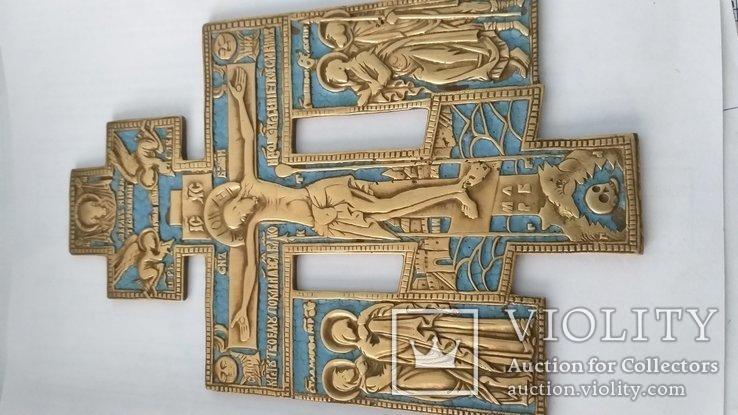Киотный крест в эмалях, фото №7