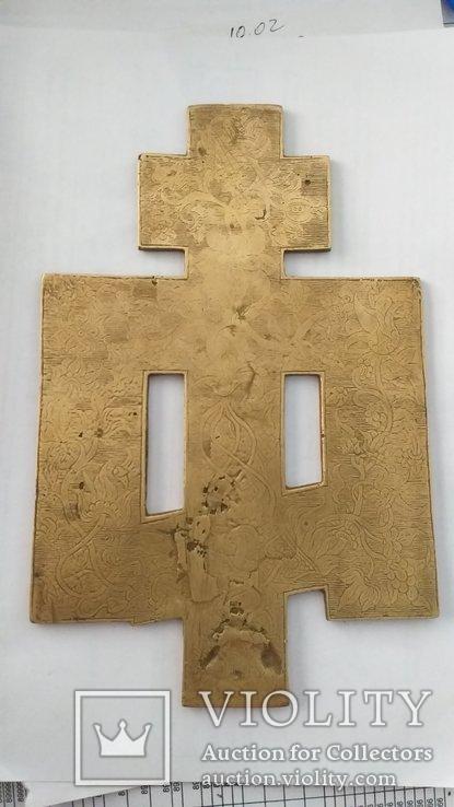 Киотный крест в эмалях, фото №9