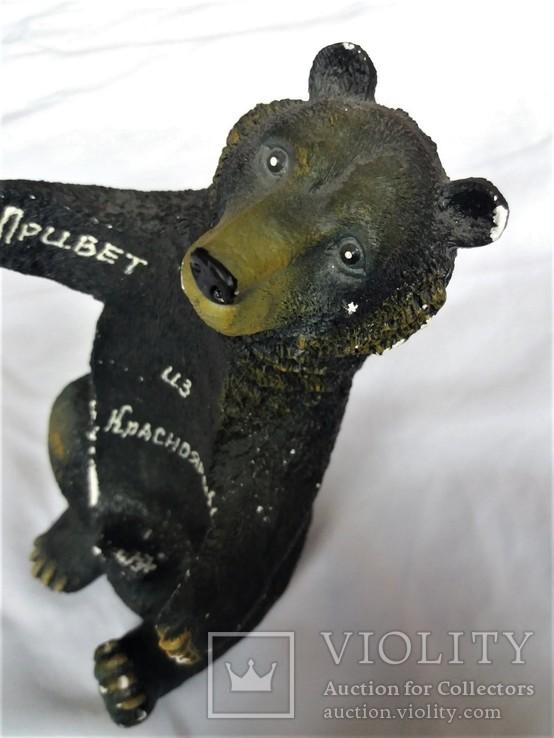 """Подставка под бутылку """"Русский медведь"""" Гипс, фото №6"""