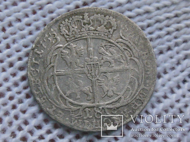 Орт 1755 (Август III Толстый), фото №4