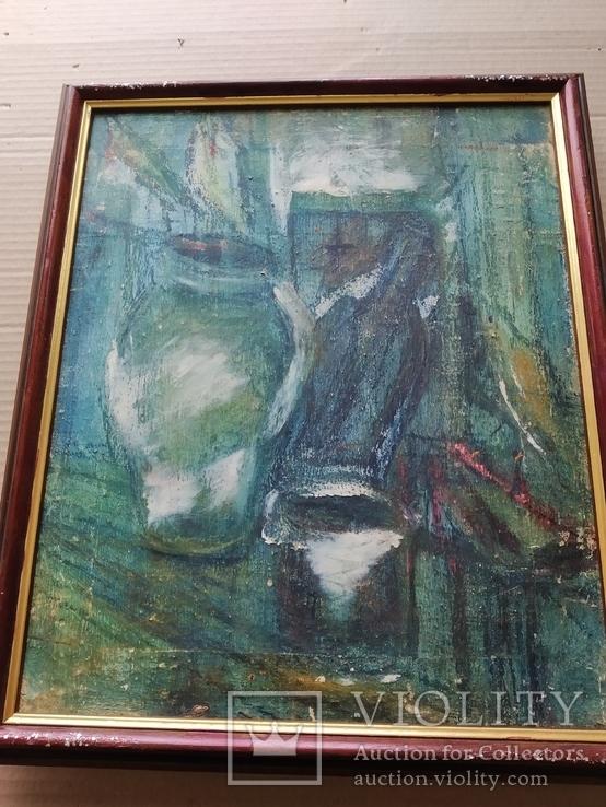 """""""Натюрморт""""  х.м. Лариса Жданова (1937-2017), фото №8"""