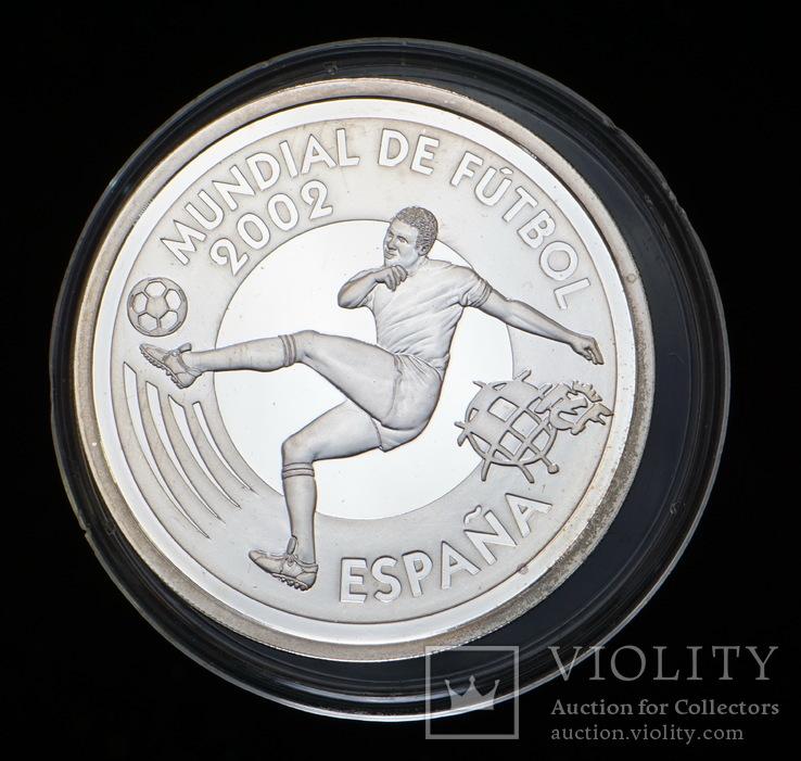10 Евро 2002 Футбол (Серебро 0.925, 27г), Испания, фото №2