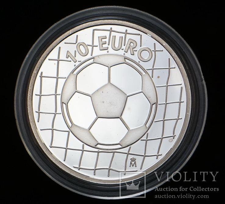 10 Евро 2002 Футбол (Серебро 0.925, 27г), Испания, фото №3