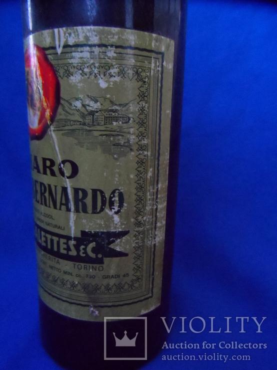 Ликер AMARO GRAN S. BERNARDO 0.73L gr 45 TORINO Италия 1960 - 70 е, фото №8