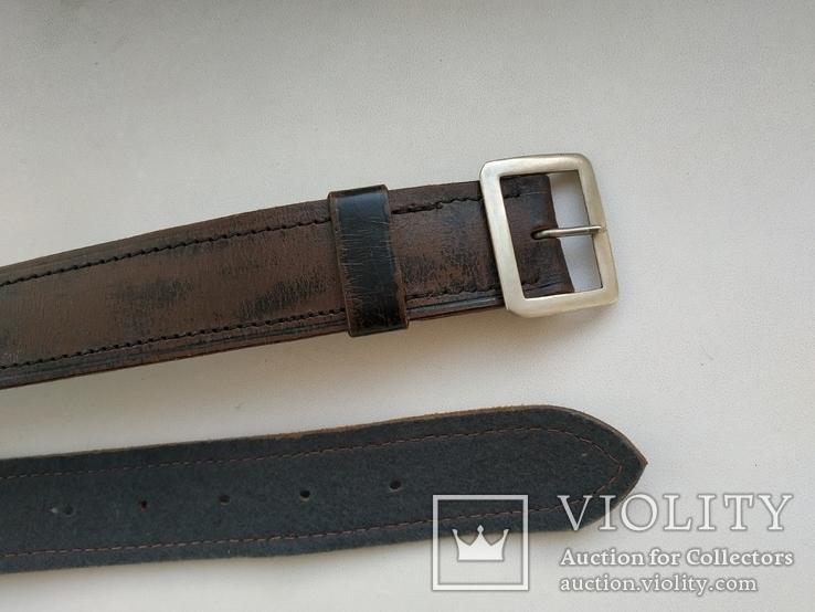 Военный кожаный ремень (портупея) с подкладкой р.4х105см., фото №4