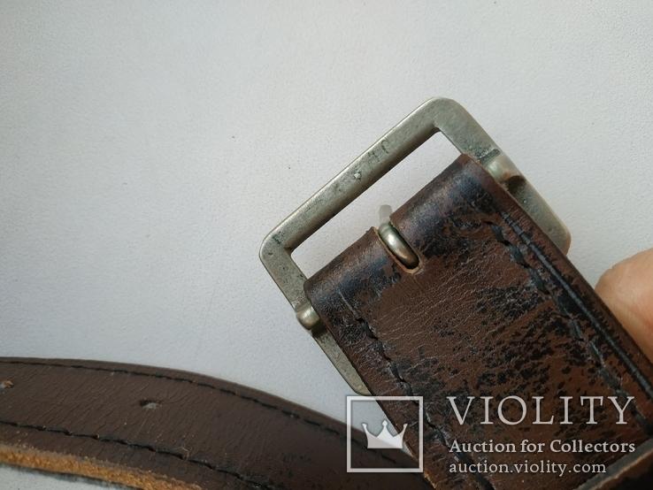 Военный кожаный ремень (портупея) с подкладкой р.4х105см., фото №7