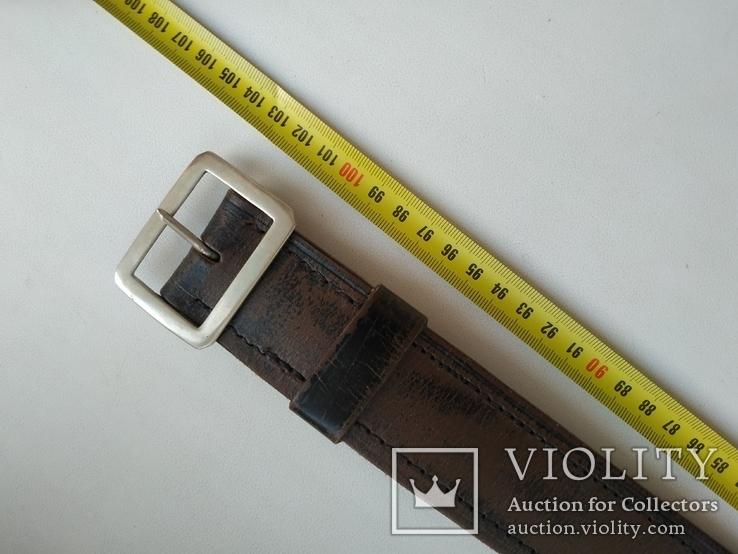 Военный кожаный ремень (портупея) с подкладкой р.4х105см., фото №9