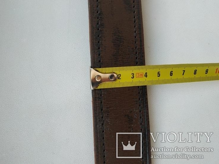 Военный кожаный ремень (портупея) с подкладкой р.4х105см., фото №11