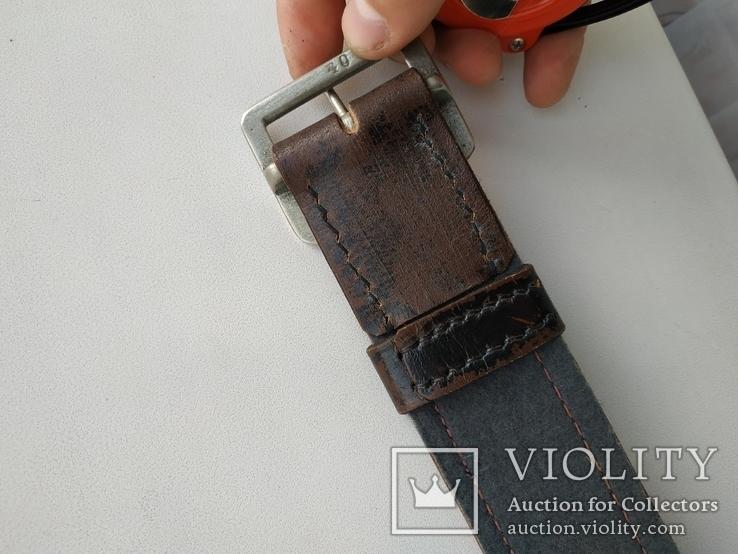 Военный кожаный ремень (портупея) с подкладкой р.4х105см., фото №12