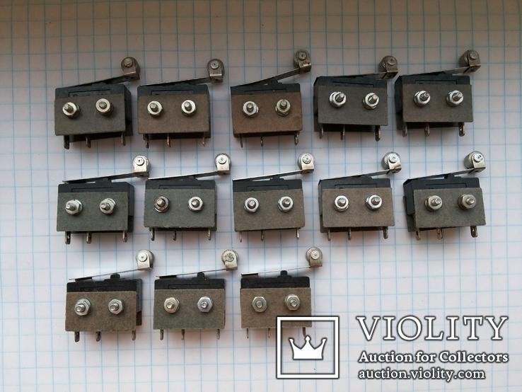 Переключатель микро 5A 250 Vac Pm2-111 рычаг серебро 13 шт, фото №3