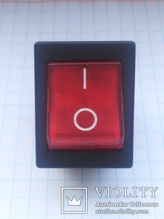 Переключатель клавишный 16A 3 pin Arcolectric С1553AL инд 1 шт, фото №5