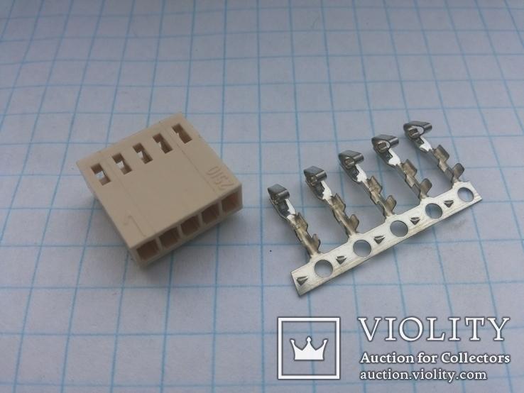 Разъем сигнальный HU-5 шаг 2,54 мама на кабель 200 шт, фото №2