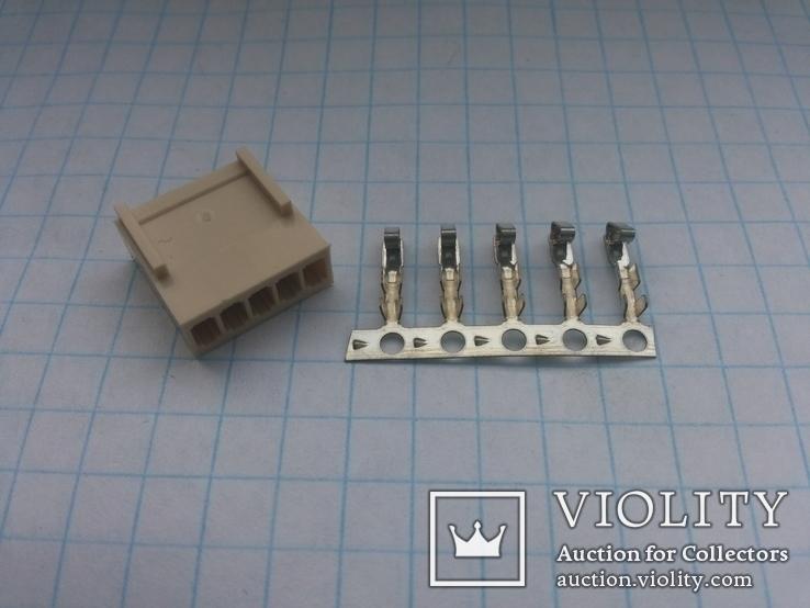 Разъем сигнальный HU-5 шаг 2,54 мама на кабель 200 шт, фото №3