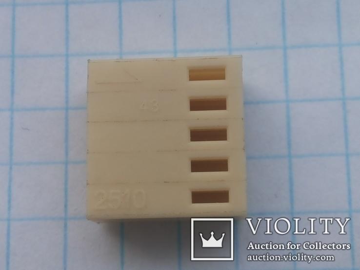 Разъем сигнальный HU-5 шаг 2,54 мама на кабель 200 шт, фото №4