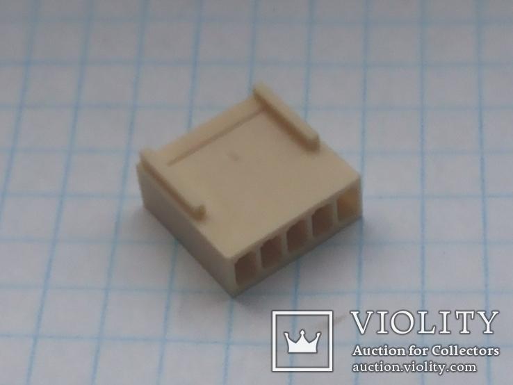 Разъем сигнальный HU-5 шаг 2,54 мама на кабель 200 шт, фото №6