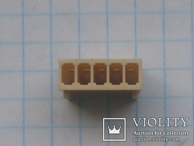 Разъем сигнальный HU-5 шаг 2,54 мама на кабель 200 шт, фото №7