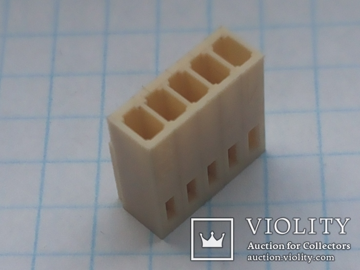Разъем сигнальный HU-5 шаг 2,54 мама на кабель 200 шт, фото №8